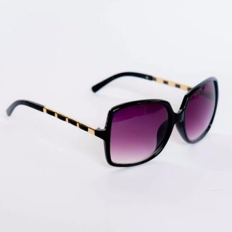 Atlas Apparel Audrey Womens Oversized Fashion Sunglasses (Black/Gold) Price Philippines