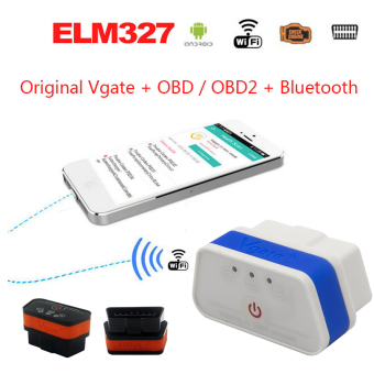 Harga WIFI Auto Diagnostic Interface Scanner iCar 2 II ELM327 Code Reader Adapter OBD OBD2 TP-LG05W (White Blue)