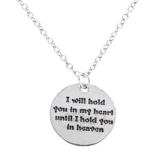 Harga I Will Hold You In My Heart Until I Hold You In Heaven Necklace