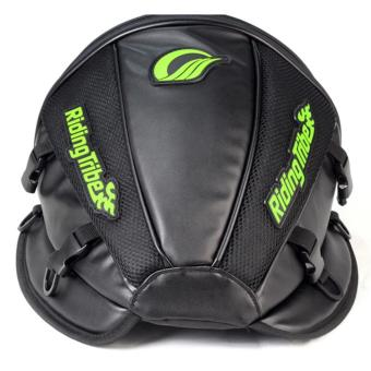 Riding Tribe Durable Motorcycle Helmet Tail Seat Bag Top Case with Great Capacity Reflective Stripe Shoulder Bands - intl Price Philippines