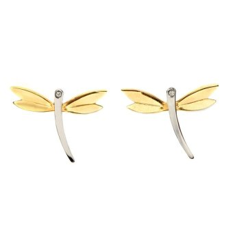 Harga Glamorosa Dragonfly Earrings (Two Tone)