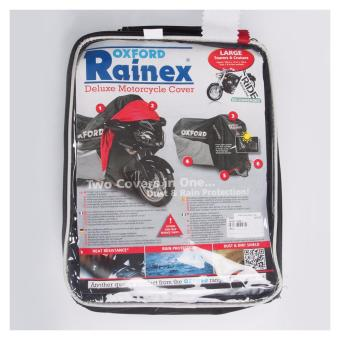 Harga Oxford OF924 Rainex Deluxe Motorcycle Cover (Silver/Black)- L