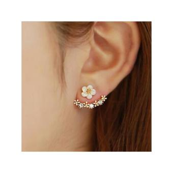 Harga Casey Ear Jacket Earrings in Silver Tone
