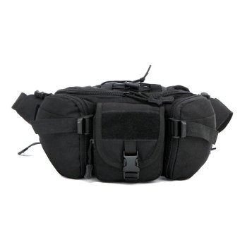 Outdoor Carry-on Waist Bag For Men Women Nylon Ride Waist Pack Climbing Fanny Pack(Black) Price Philippines