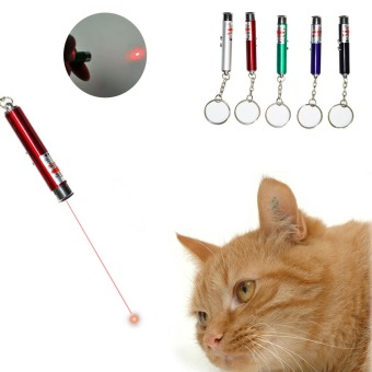 Harga Interactive 2In1 Red Laser Pointer Pen Cat Funny Play Toy Game White LED Light