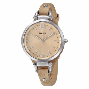 Harga Fossil Georgia Beige Dial Sand Tan Leather Ladies Watch - intl