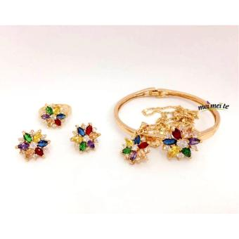 MEI MEI Multicolor Flower 14k Bangkok Jewelry Set Price Philippines