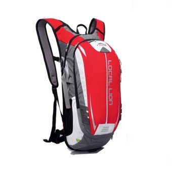 Harga Local Lion Outdoor Cycling Travelling Backpack (Red/Grey)