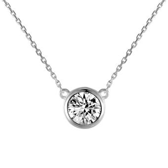Harga Just Gift Round Pendant Necklace 1067 ( Silver )