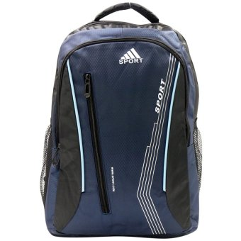 Harga Sport Lightweight Casual Waterproof Nylon Backpack (Navy Blue)