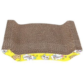 Harga Pet Cat Kitten Corrugated Scratch Board Pad Scratcher(Ginger) - intl