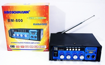 Harga STEREO AUDIO BOSCHMANN POWERED KARAOKE AMPLIFIER BM-800