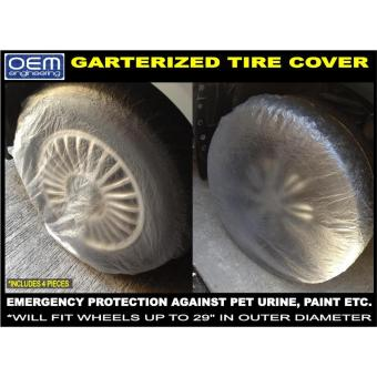 Harga OEM Engineering Plastic Disposable Tire Cover 32s Mags Cover clear cover dust cover car shop work cover