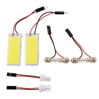 Harga OEM 2x HID 36 COB LED Panel Light For Car Auto Interior Dome Reading White Lamp