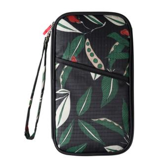 Harga Fashion leaves passport cover handbag travel cards holder n2215a green - intl