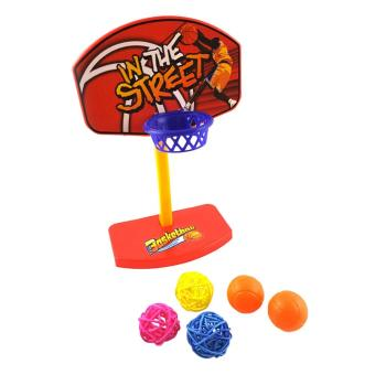 Pet Birds Parakeet Bell Ball Toy Basketball Hoop Prop - intl Price Philippines