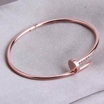 LALANG No Drill Rose Gold Bracelet Couple Love Models Oval High Polish Bracelet (Rose Gold) Price Philippines