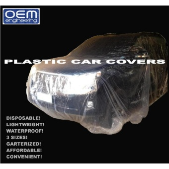 Harga OEM Engineering DISPOSABLE PLASTIC CAR COVERS Small 1 pc