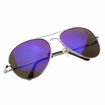 Harga Sun Glasses with Sun rays Eye Protective with mirror effects color Blue with sun glasses pouch