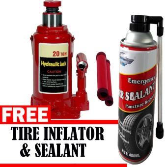 Harga Prostar 20 Ton Bottle Jack with Free Tire Inflator Sealer