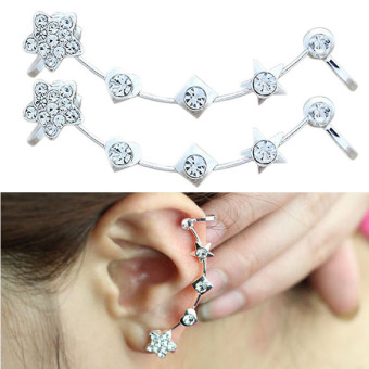 Korea Fashion Soft Ear Stud Beautiful Star Ear Clip Earring (Intl) Price Philippines
