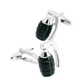 Harga MagiDeal 1 pair Trendy Hand Grenade Shape Cufflink for Men