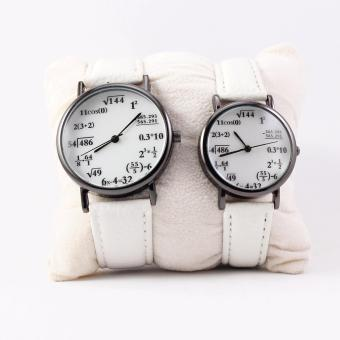 Harga Math Lover Couple Leatherette Strap Watch