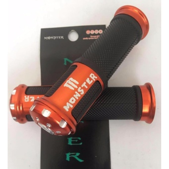 Harga Monster Racing Stylish Motorcycle Handle Grip(ORANGE)