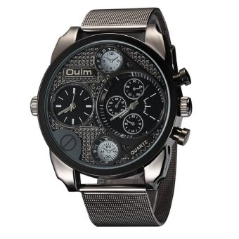 Harga Luxury Brand Design Oulm Watches Men Full Steel Quartz-watch Antique Male Casual Military Wristwatch relojes hombre 2016
