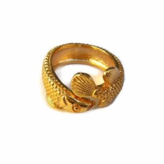 Harga Be Lucky Charms Feng Shui Adjustable Rose Gold Arowana Ring