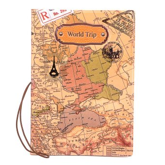 Harga World Trip Passport Holder - Brown