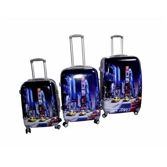 "Times Square NY Hard Case Travel Luggage F-9001 set of 3 size (20""/24""/28"") Price Philippines"