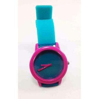 Harga Posh Perfect I Love Me Silicone Strap Watch (Blue/Pink)