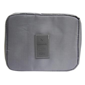 Harga Wawawei Waterproof Toiletry Cosmetic Bag (Grey) #32309