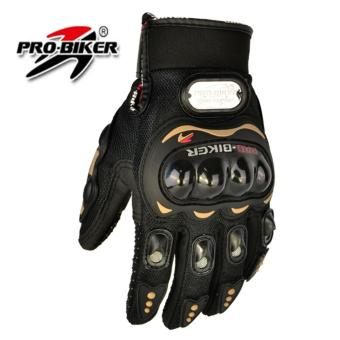 Harga Pro-Biker Motorcycle Gloves MOTO Racing gloves Knight Urban Riders Luvas Motocross Motorbike Gloves guantes L (Black)