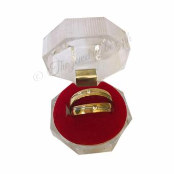 Harga Amor 14K Gold Plated Couple Ring (Size 6 and 9)