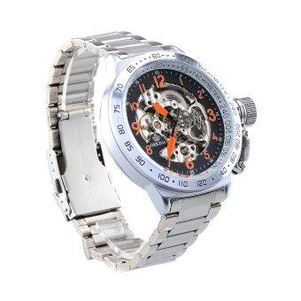 Harga Automatic Self Winding Stainless Steel Kinetic Fashion Watch(Silver) - Intl