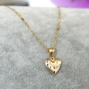 Harga Fine Carat by Athena & Co. 18K Gold Reversible Heart Necklace