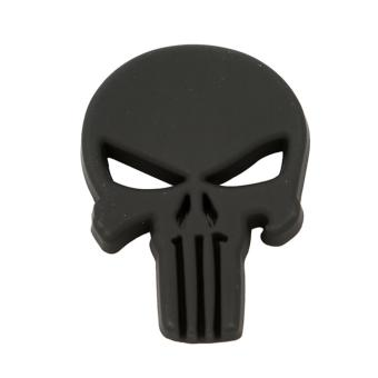 Harga HengSong 3D Zinc Alloy Skull Crossbones Skeleton Car Punitive Sticker Label(Black) - intl
