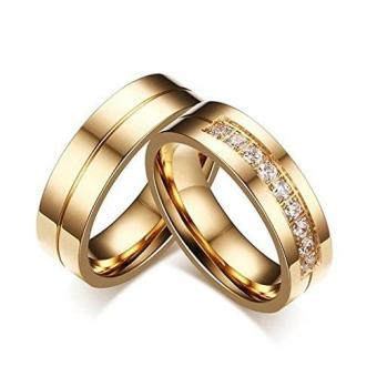 Harga Jewels & Me Jean Couple Wedding Ring (Gold)