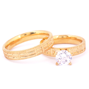 Harga Glamorosa Promise Couple Ring (Gold)