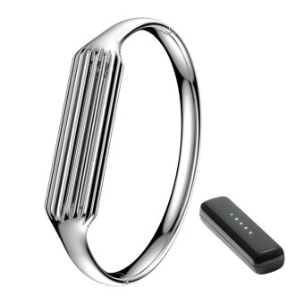 Stainless Steel Bracelet Accessories for Fitbit Flex 2 Sliver Small Bangle(Silver) - intl Price Philippines