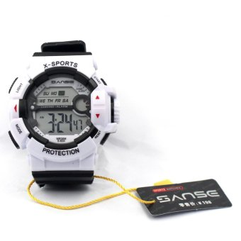 Harga Sanse Water Resistant Uni-sex Watch TPU resin Strap-634 White