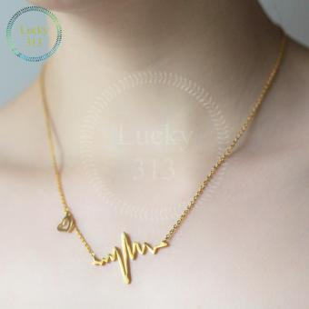 Harga Heart Beat Necklaces Gold Plated