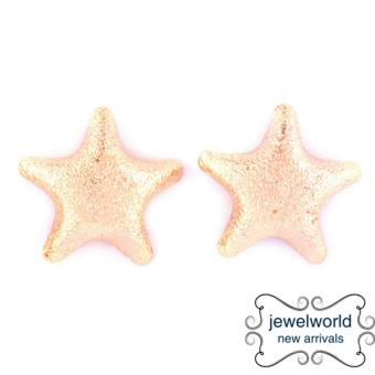Jewelworld Star Sandblast Bangkok Plated Earrings (gold) Price Philippines
