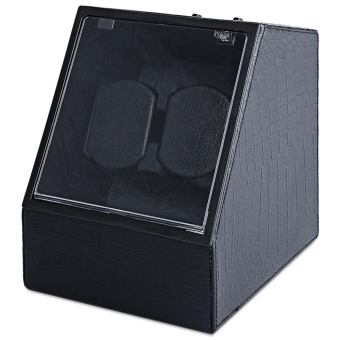 Automatic Watch Winder Auto Silent Watch Winder Irregular Shape Transparent Cover Wristwatch Box with US Plug (#1) - intl Price Philippines