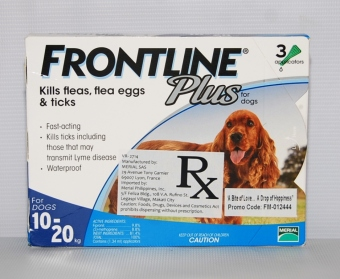 Harga Frontline Plus For Dogs 10-20kg (3 applications)