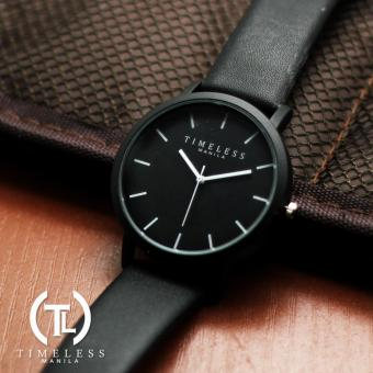 Timeless Manila Jules Linear Leather Watch (Black) Price Philippines