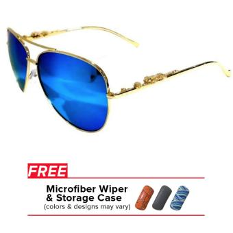 32sunny Jasmine Blue/Gold Aviator Sunglasses Price Philippines