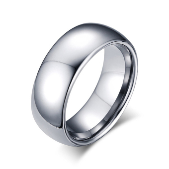 Harga Silver simple style Men Tungsten Rings for Men Wedding Band, Size 7 to 13